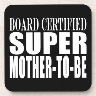 Future Moms Funny Baby Showers Super Mother to Be Coasters