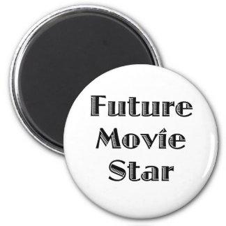 Future Movie Star 2 Inch Round Magnet