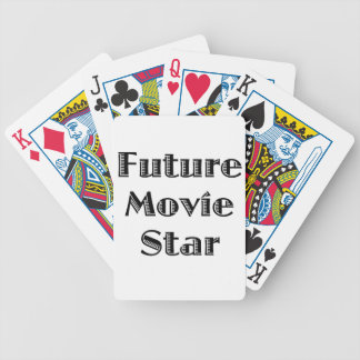 Future Movie Star Bicycle Playing Cards