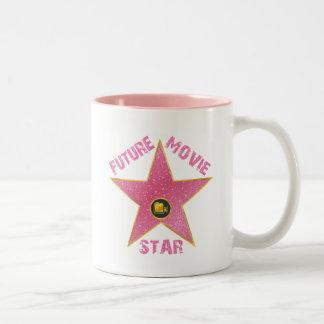 FUTURE MOVIE STAR Two-Tone COFFEE MUG
