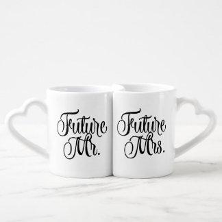 Future Mr and Mrs Fancy Script Coffee Mugs Couples' Coffee Mug Set
