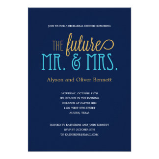 Future Mr and Mrs Rehearsal Dinner /Wedding Shower Personalized Invitations