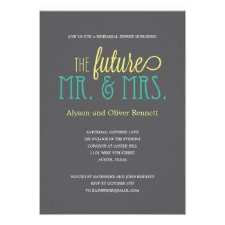 Future Mr and Mrs Rehearsal Dinner /Wedding Shower Custom Invitations