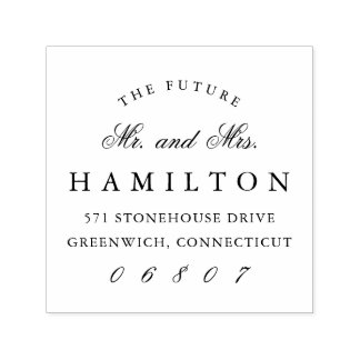 Future Mr. and Mrs. | Return Address Self-inking Stamp
