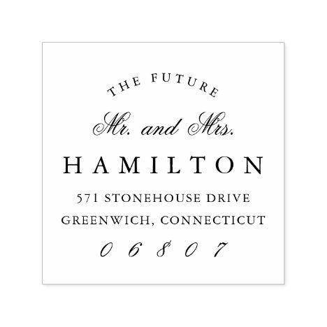 Future Mr. and Mrs. | Return Address Self-inking Stamp
