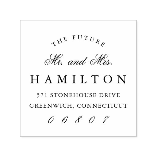 Future Mr. and Mrs. Return Address Self-inking Stamp