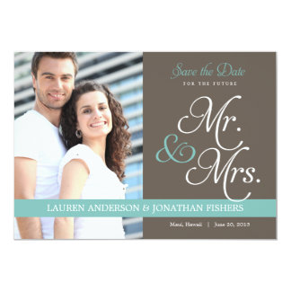 """Future Mr. and Mrs. Save The Date 5"""" X 7"""" Invitation Card"""