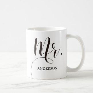 Future Mr. Mrs.Calligraphy Personalized Coffee Mug