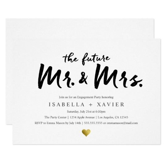 future mr mrs engagement party invite zazzle com