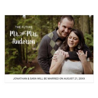 Future Mr. & Mrs. | Photo Save the Date Postcard