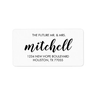 Future Mr. & Mrs. Return Address Labels