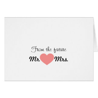 Future Mr. & Mrs. Thank you note Greeting Card
