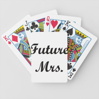 Future Mrs. Bicycle Playing Cards