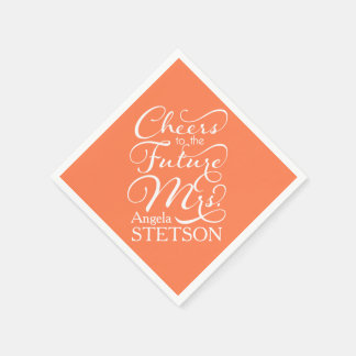 Future Mrs Bridal Shower | Coral Paper Napkin
