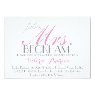 Future Mrs. Bridal shower Pink & white Card