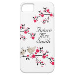 Future Mrs. Bride To Be Wedding Birds iPhone 5 Cover