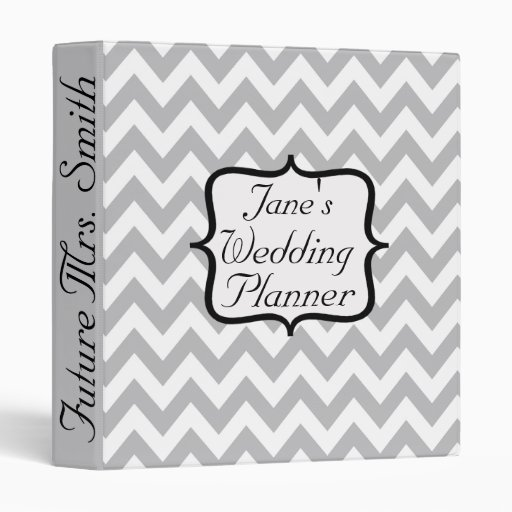 Future Mrs. Chevron Wedding Planner 3 Ring Binders
