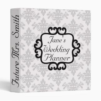 Future Mrs. Damask Wedding Planner 3 Ring Binder