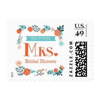 Future Mrs. Floral Bridal Shower Postage