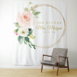 """Future Mrs Gold Bridal Shower Backdrop Photo Booth<br><div class=""""desc"""">Your guests will LOVE posing in front of this stunning backdrop! This will be the hit of the shower!  Visit our website for more designs and inspiration: www.creativeuniondesign.com</div>"""