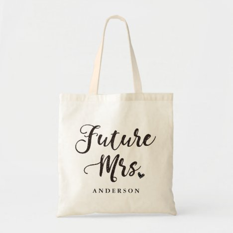 Future Mrs. gold hand lettering Tote Bag