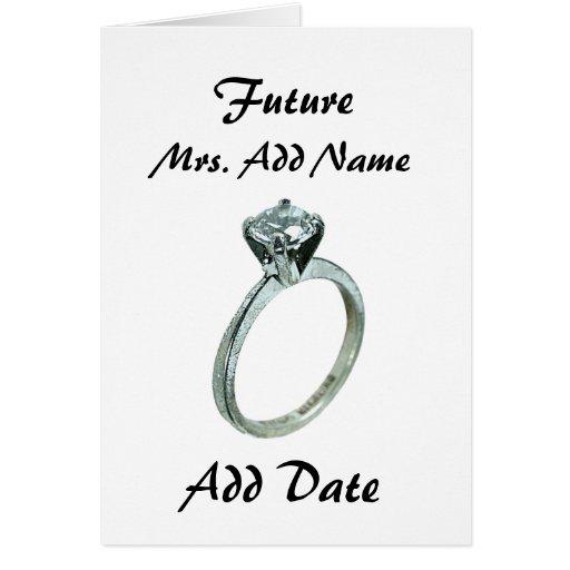 Future Mrs. Greeting Card