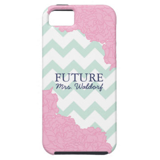 Future Mrs. Peonies and Chevron Cover For iPhone 5/5S
