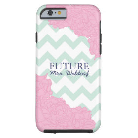 Future Mrs. Peonies and Chevron Tough iPhone 6 Case