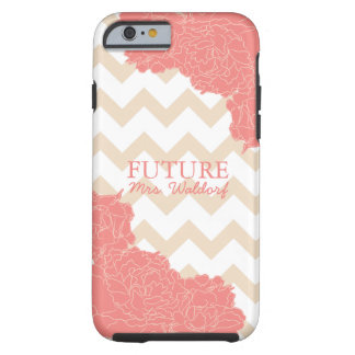 Future Mrs. Peonies and Chevron iPhone 6 Case