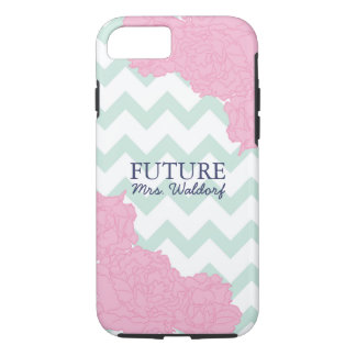 Future Mrs. Peonies and Chevron iPhone 7 Case