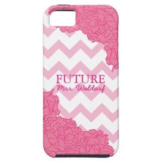 Future Mrs. Peonies and Chevron iPhone SE/5/5s Case