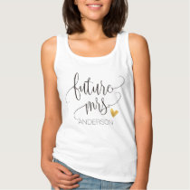 Future Mrs. Personalized Calligraphy -1 Tank Top