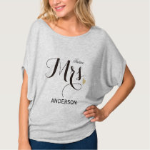 Future Mrs. Personalized Calligraphy-2 T-Shirt