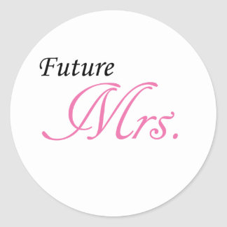 Future Mrs. Classic Round Sticker