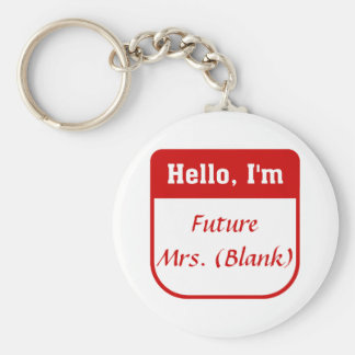 Future Mrs. T-shirt - Personalized Keychain