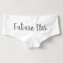 Future Mrs. undies across the bum.