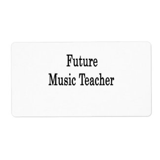 Future Music Teacher Custom Shipping Labels