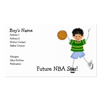 Future NBA Star! Mommy Calling Cards Double-Sided Standard Business Cards (Pack Of 100)