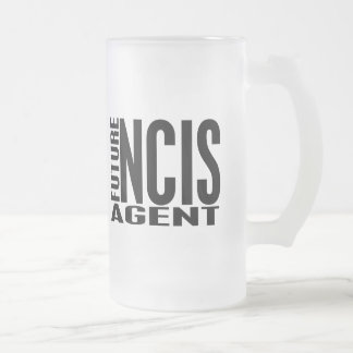 Future NCIS Agent Frosted Glass Beer Mug
