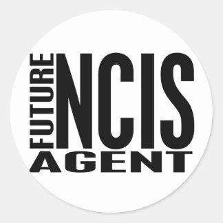 Future NCIS Agent Classic Round Sticker