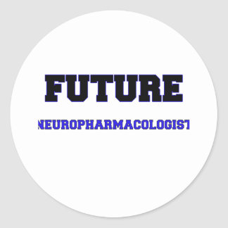 Future Neuropharmacologist Classic Round Sticker