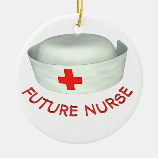 Future Nurse Ceramic Ornament