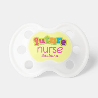 Future Nurse Personalized Baby Shower Nursing Gift Pacifier