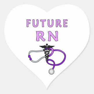 Future Nurse RN Medical Heart Sticker
