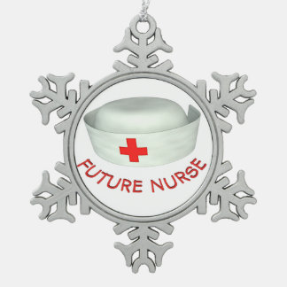 Future Nurse Snowflake Pewter Christmas Ornament