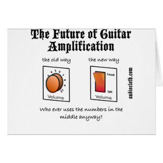 Future Of Guitar Amplification on White Cards