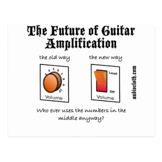 Future Of Guitar Amplification on White Post Card