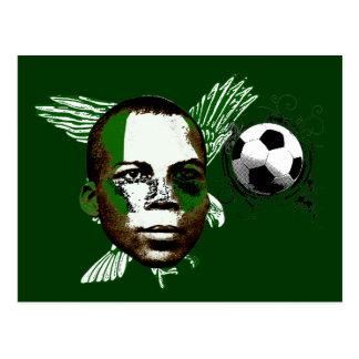 Future of Nigerian soccer football artwork gifts Postcard