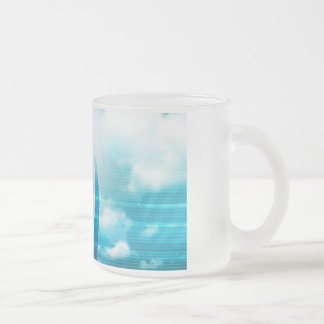 Future of Technology with a Professional Reaching Frosted Glass Coffee Mug