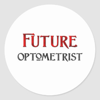 Future Optometrist Classic Round Sticker